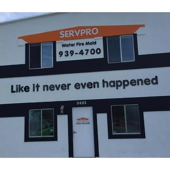 Front of Office Building With SERVPRO Logo and Local Phone Number